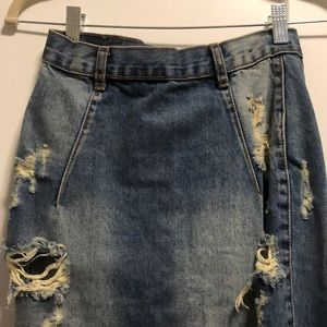 One Teaspoon Skirts - One teaspoon jean pencil skirt.